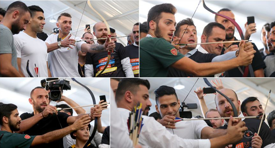 Super League's Stars Bow Arrows at Ethnosport Festival